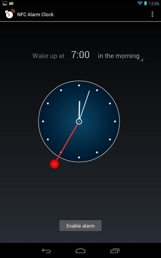 NFC Alarm Clock - screenshot