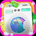 Laundry Girls Washing Clothes icon