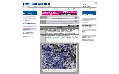 STONE-DATABASE.com- screenshot thumbnail