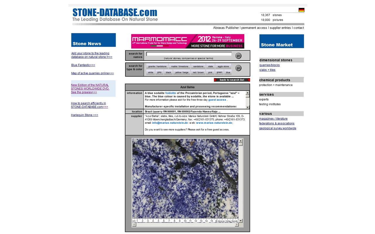 STONE-DATABASE.com- screenshot