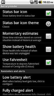 Batteryminder- screenshot thumbnail