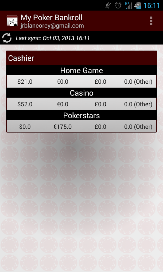 My Poker Bankroll - screenshot