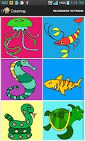 Screenshot of Coloring - Reptile and others.