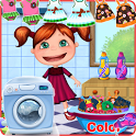 Laundry Girl Washing Clothes icon