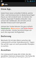 Screenshot of Obst- und Gemüsekalender Pro