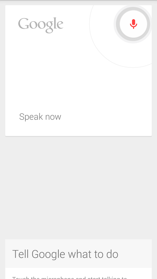 Open Mic+ for Google Now - screenshot