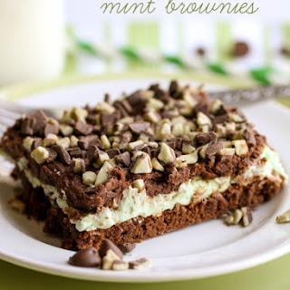 Chocolate Ganache Mint Brownies.