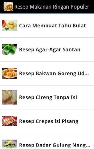 Resep Makanan Ringan Populer