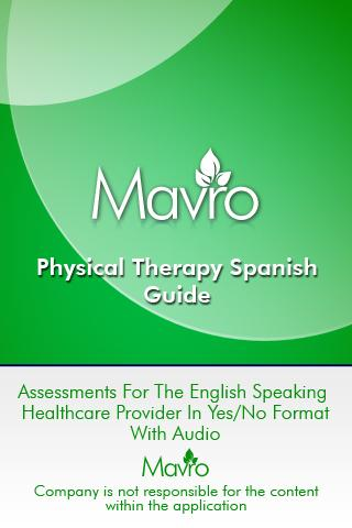 Physical Therapy Spanish- screenshot