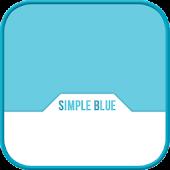 Simple Blue GO locker theme