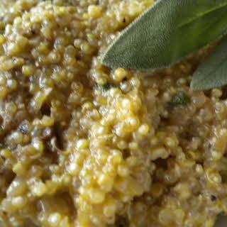 """Quinoa """"Risotto"""" with Walnuts, Sage and Porcini."""