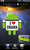 Screenshot of I Love Obama doo-dad