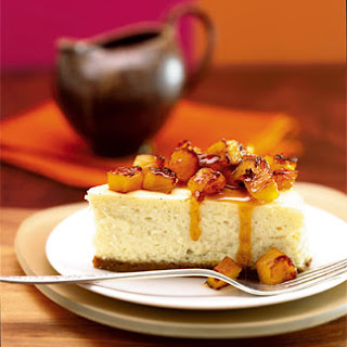 Crème Fraîche Cheesecake with Honey-Rum-Roasted Pineapple