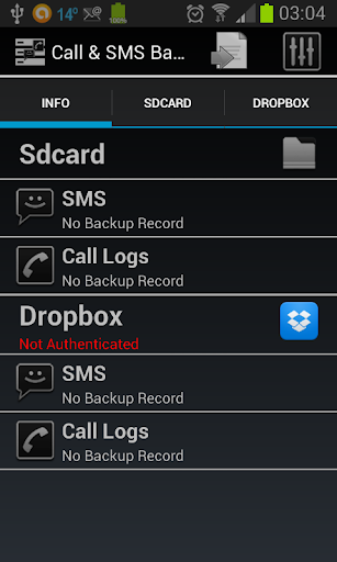 SMS Call Logs Backup