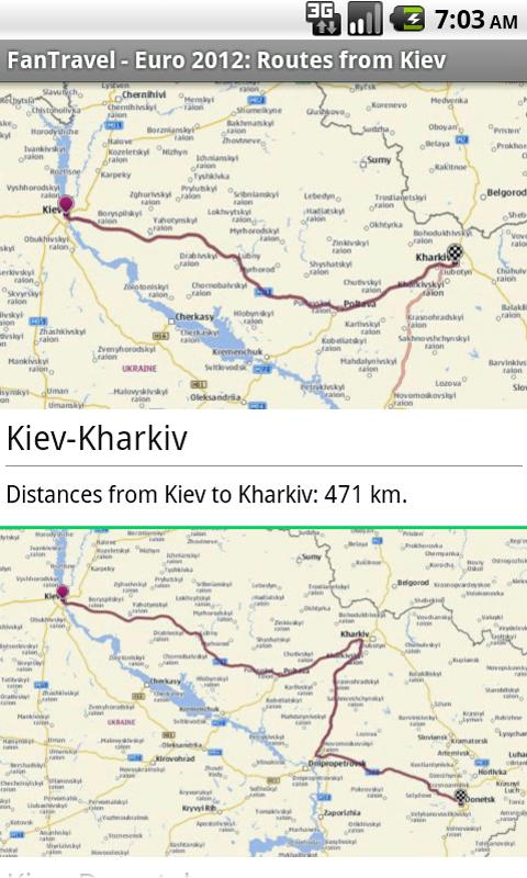 FanTravel Ukraine Euro2012 - screenshot