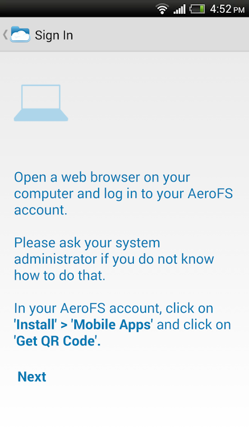 AeroFS - screenshot