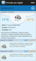 Screenshot of INMET Tempo e Clima