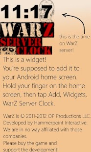 WarZ Server Clock - screenshot thumbnail