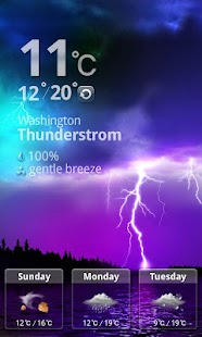MXHome Theme Weather - screenshot thumbnail