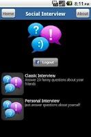 Screenshot of Social Interview
