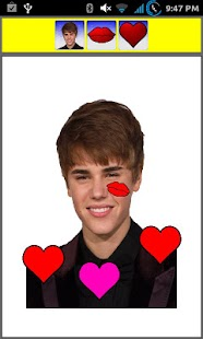 Kiss Justin Bieber Widget