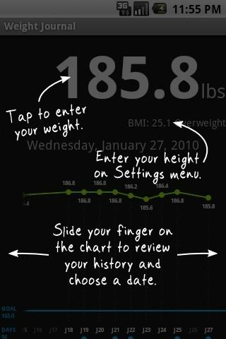 Weight Journal - screenshot
