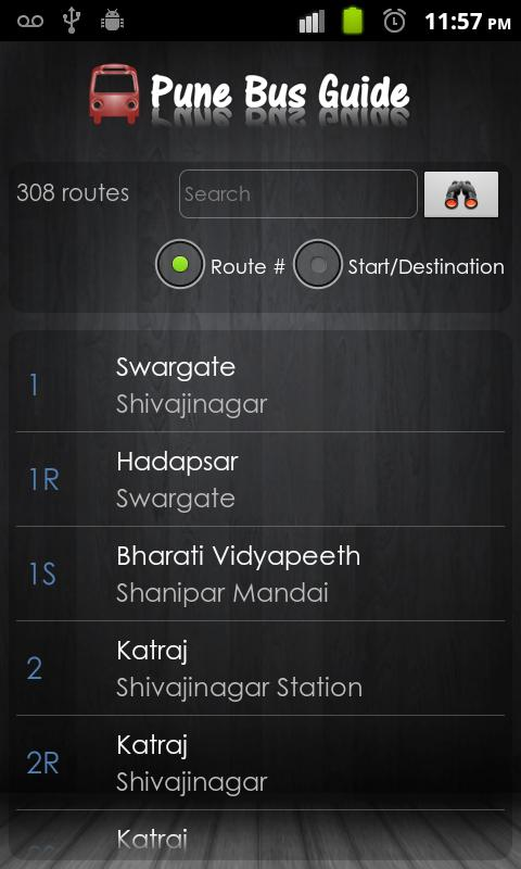 Pune Bus Guide- screenshot