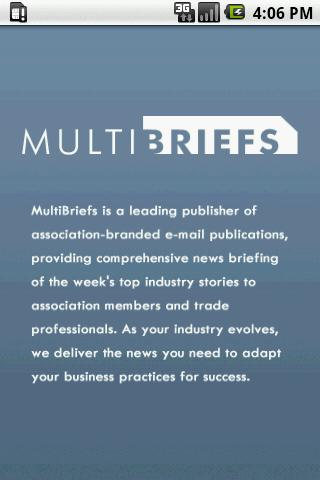 MultiBriefs By MultiView Inc. - screenshot