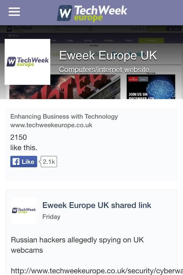 TechWeekEurope.co.uk- screenshot