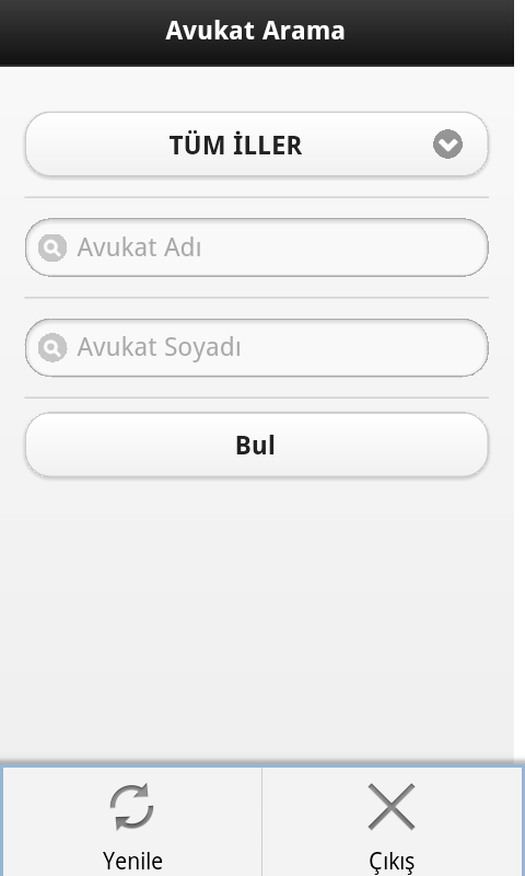 Avukat Arama (Ae Yazılım) - screenshot