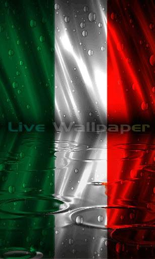 Italy Flag Raindrop