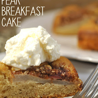 Breakfast Pear Cake