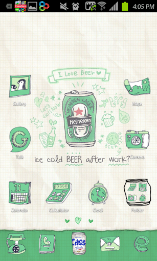 Beer go launcher theme