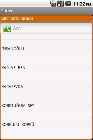 Şiirler - screenshot