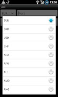 Screenshot of Jacc Currency Converter