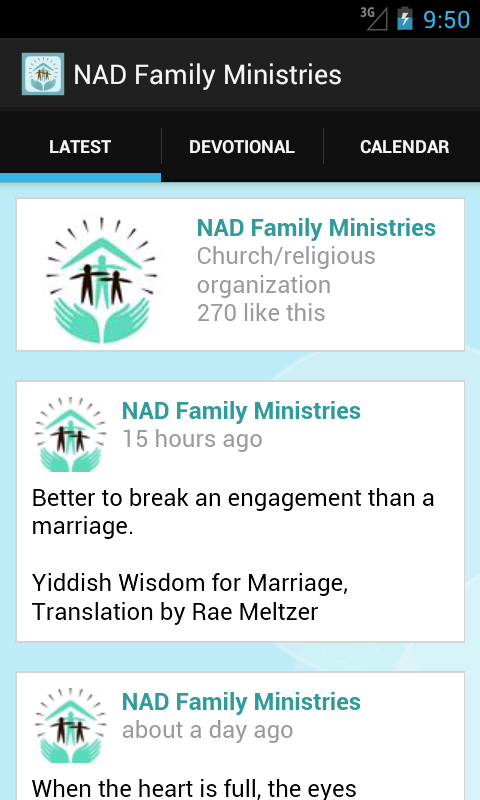 Nad Family Ministries- screenshot