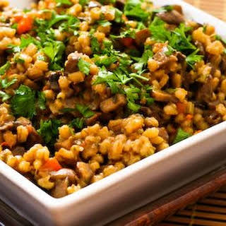 Barley Risotto with Mushrooms and Thyme.