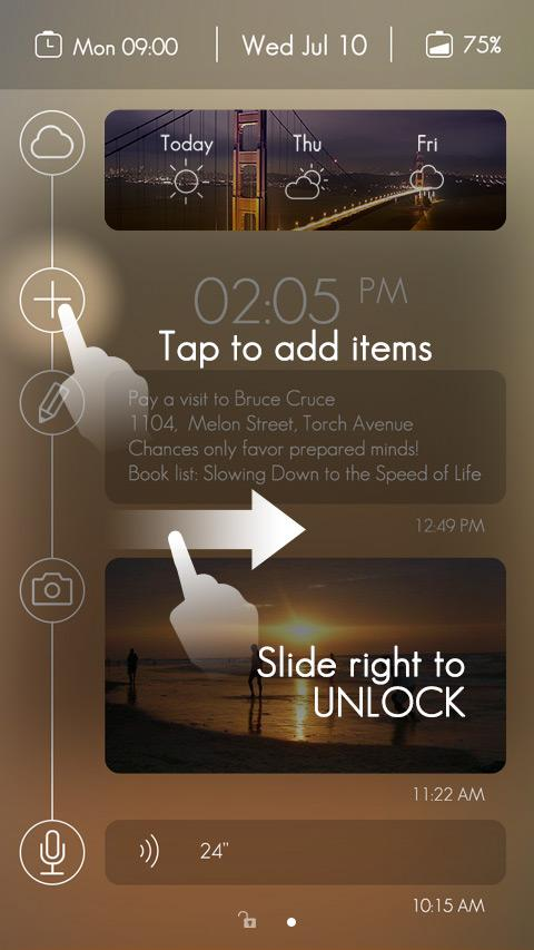 Timeline GO Locker Theme- screenshot
