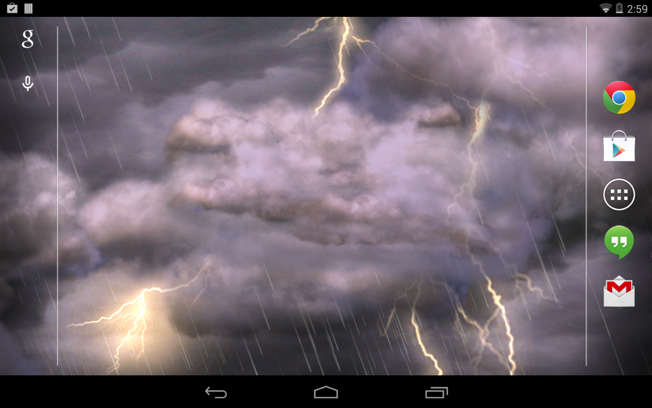 Thunderstorm Live Wallpaper- screenshot