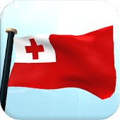 Tonga Flag 3D Free Wallpaper