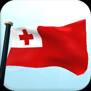 Tonga Flag 3D Free Wallpaper