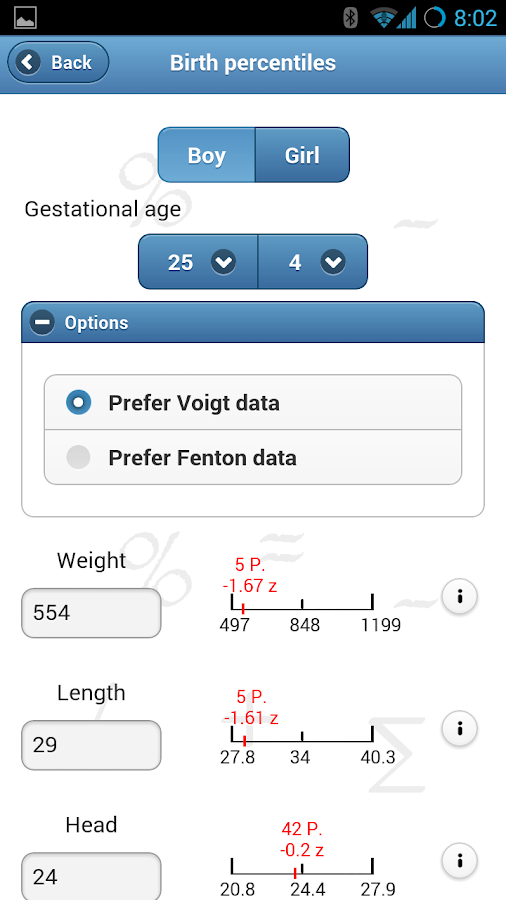Ped(z) - Pediatric Calculator - screenshot