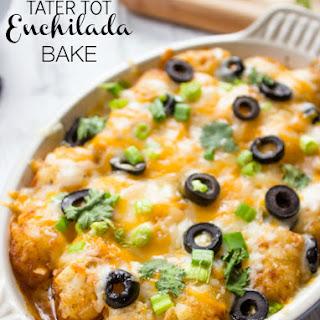 Tater Tot Enchilada Bake