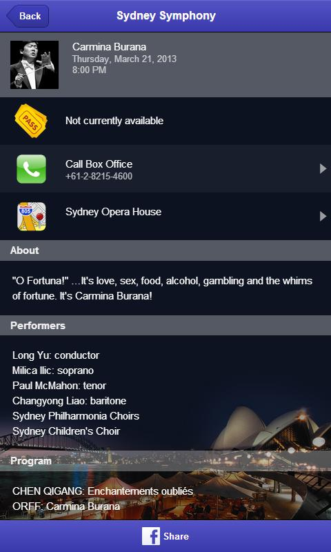 Sydney Symphony Orchestra - screenshot