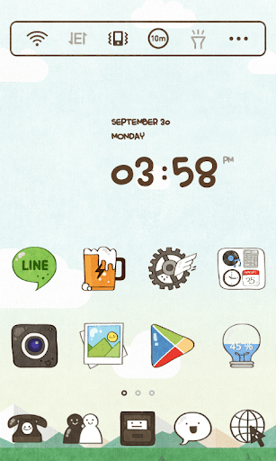 Cartoon Play dodol Theme