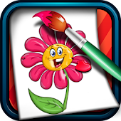 Coloring Game for Kids Flowers