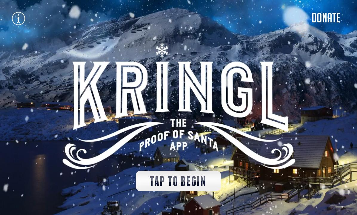 Kringl - Proof of Santa App - screenshot