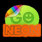 Orange Neon theme GO SMS Pro icon