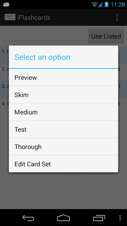 Flashcards Study Helper - screenshot