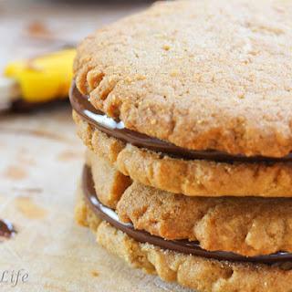 Peanut Butter Sandwich Cookies with Chocolate Peanut Butter Ganache